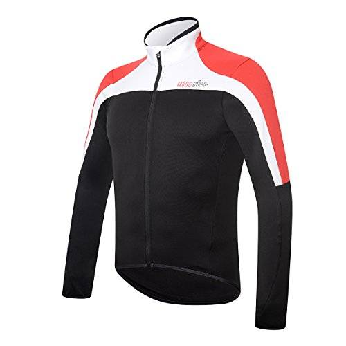 RH + spacethermo Jrs blk-wh-red L, camisetas (Ciclismo) Hombre, black-white-red, L