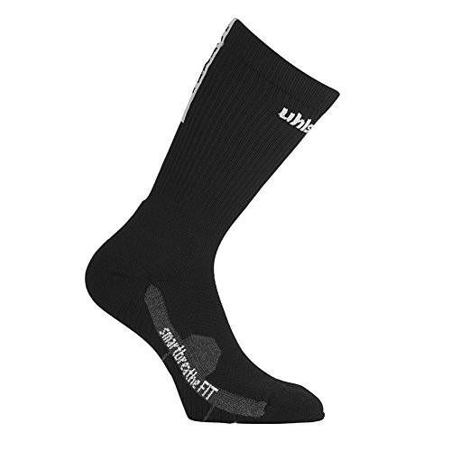 Uhlsport Tube It Calcetines con Grip, Hombre, Negro / Blanco, 28-32
