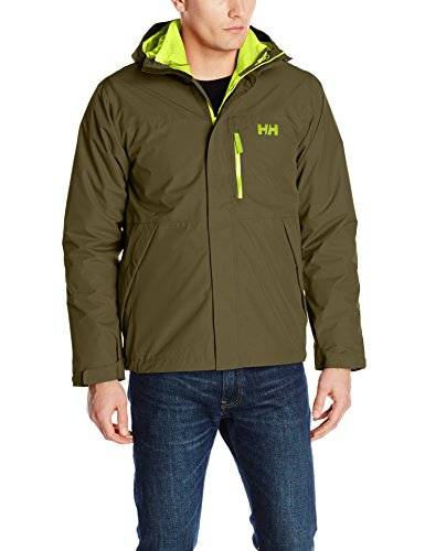 Helly Hansen Squamish CIS Jacket Chaqueta Impermeable, Hombre, Verde (Ivy Green), S