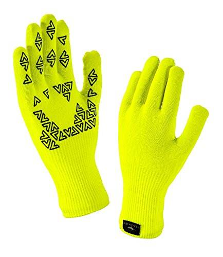 Seal Skinz SealSkinz–impermeable Ultra agarre guantes, Unisex, color amarillo, tamaño mediano