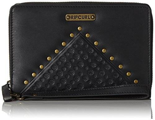 Rip Curl Mujer Cove RFID o/s Leather WLT Cartera, color negro, tamaño 19 x 2 x 14 cm