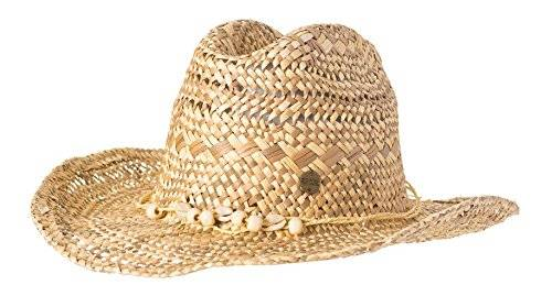 Rip Curl Mujer Salty Straw Cowgirl sombrero, natural, One size