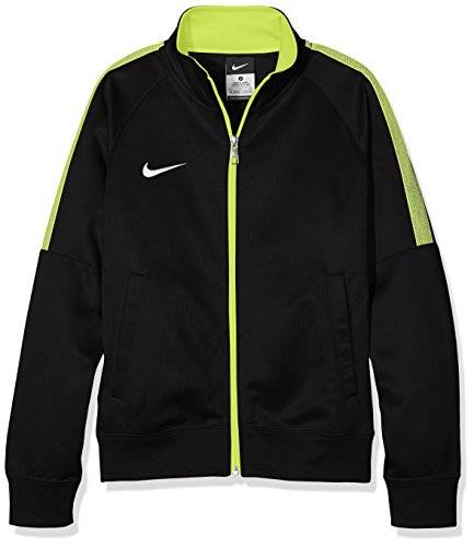 Nike Bekleidung Yth Team Club Trainer Jacket Chaqueta, Niños, Negro / Verde / Blanco (Black / Volt / Football White), S