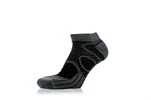 EIGHT SOX Eightsox Trail Micro Calcetines Running, Unisex adulto, Gris / Negro, 39-41