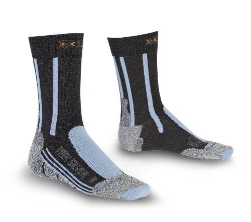X-Socks Socken Trekking Silver Lady - Calcetines para mujer, color multicolor (anthracite/azure) talla 41-42