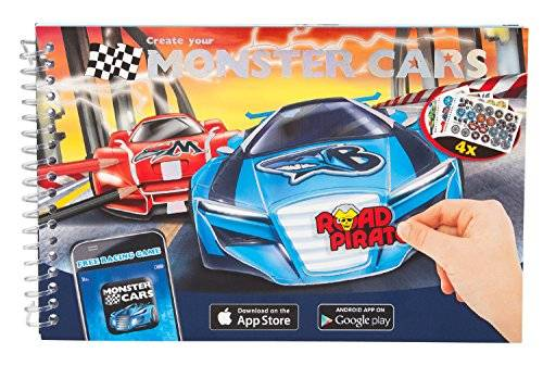Monster Cable Coches Monster 6245 - Coloring Book, multicolores