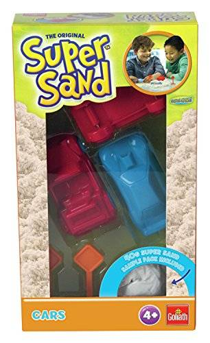 Goliath Super Sand Shapes Bakery + Cars - arena cinética (Natural, Window box)