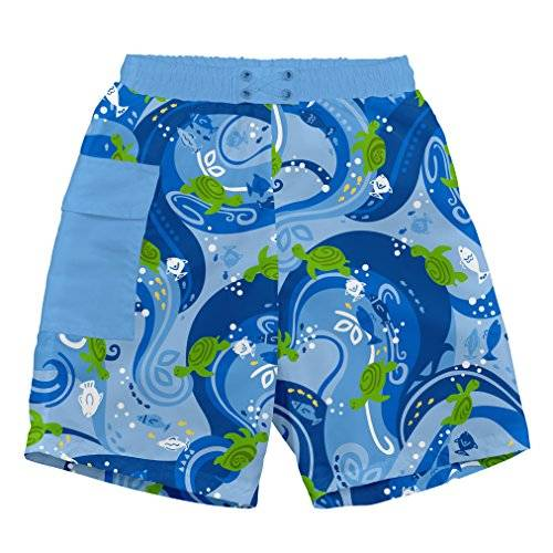 iPlay i play. 722169-639-43 - Short con pañal para nadar, con bolsillo, 6-12 meses, color azul