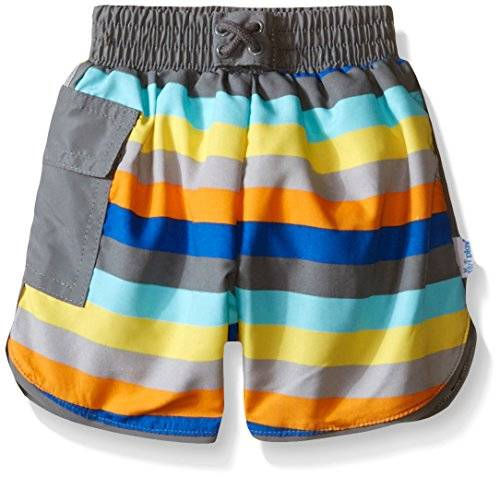 iPlay i play. 722183-816-43 - Short corto con pañal, para nadar, 6-12 meses, color gris