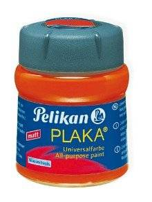 Pelikan Plaka, orange (Nr. 15), Inhalt: 50 ml im Glas