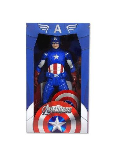NECA AVENGERS MOVIE CAPTAIN AMERICA 1/4 SCALE (45cm) FIGURE