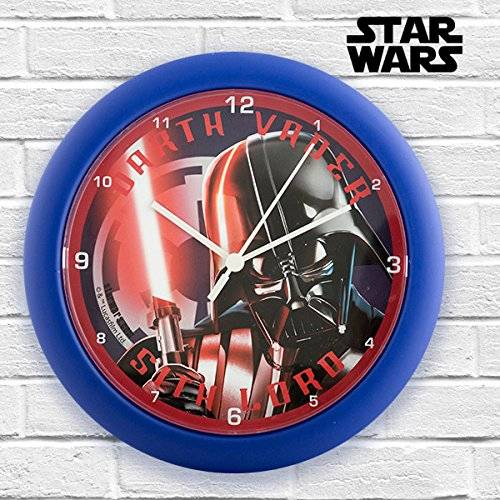 Star Wars Reloj de pared con imagen de Darth Vader de la saga
