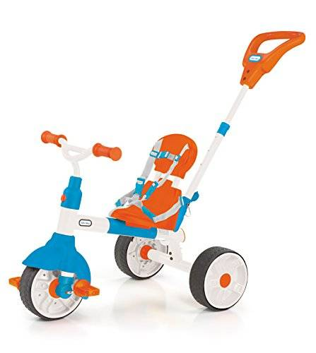 Little Tikes-484933 triciclo 3 En 1 To Learn Pedal, color naranja y azul