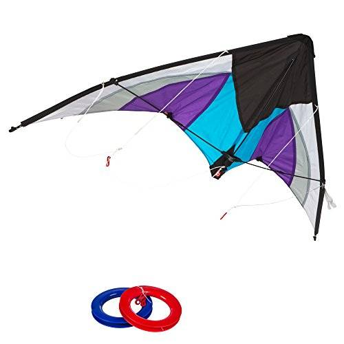 Eolo ColorBaby - Cometa acrobática Pop-Up Magic 125x72 cm - color morado & blanco (85091)
