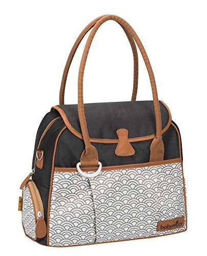 Babymoov Style A043563 - Bolso maternal, color negro y gris
