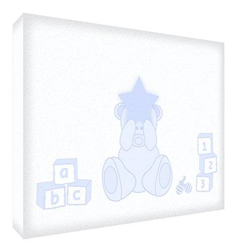 ART Feel Good Art BEARHEART-A7BLK-14ES - Bloque decorativo recuerdo del bebé, diseño