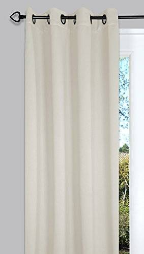Ideenreich 2228 - Cortina opaca (135 x 260 cm), color crudo