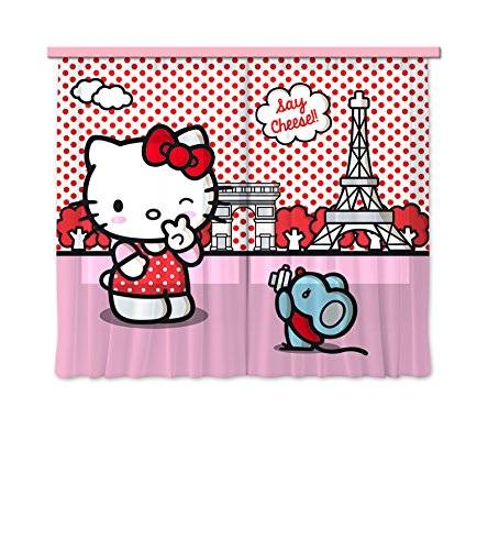 AG Design Diseño AG FCC xl 6311 cortina/cortinas decorativo Hello Kitty