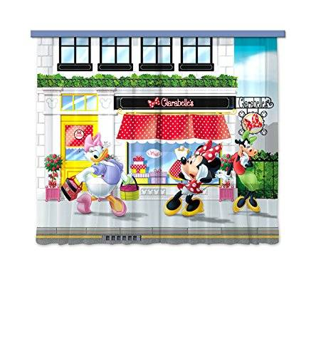 AG Design Cortina de diseño AG FCC xl 6310/cortinas decorativo diseño de Minnie Mouse