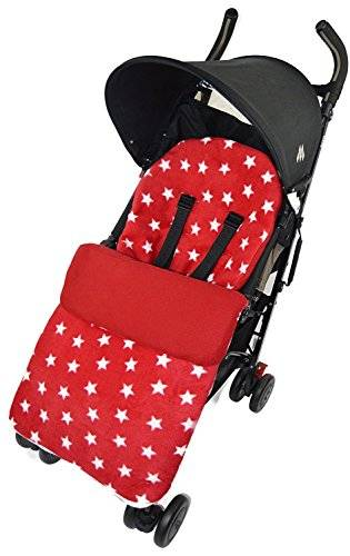 For-your-Little-One Forro polar saco/Cosy Toes Compatible con abeja Bugaboo Cameleon Donkey Buffalo Star color rojo