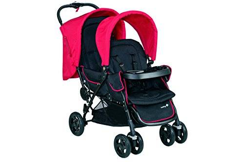 Safety 1st Duodeal - Silla de paseo gemelar, color plain red