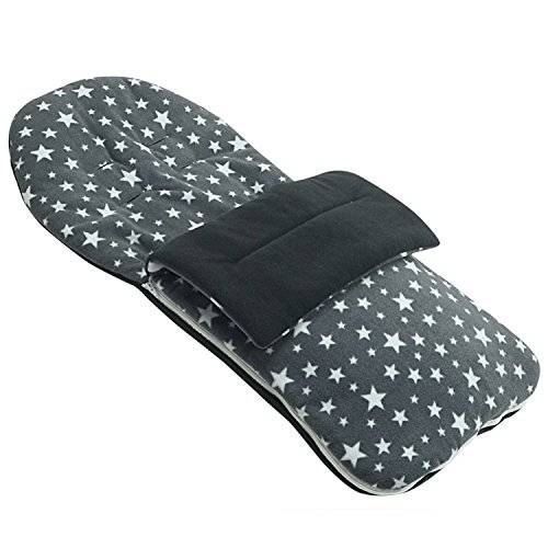 For-your-Little-One Forro polar saco compatible con babybus Duo Twin–gris Star