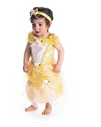 Disney Baby DCPRBE06 - princesa Dress, Belle, amarillo