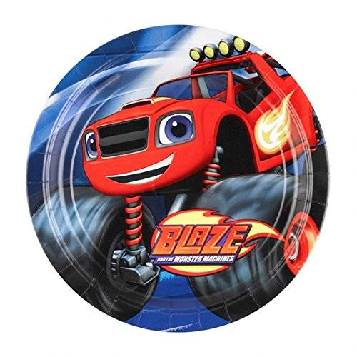 Monster Cable Blaze and the Monster Machines - Platos, pack de 8 unidades (Amscan 9991352)