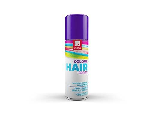 Smiffy's - Color de cabello en spray 125 ml, color púrpura (052P)