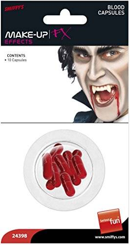 UNISEX BLOOD CAPSULES COSMETICS AND DISGUISES SMIFFYS FANCY DRESS COSTUME (disfraz)
