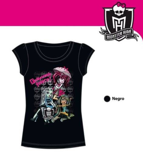 Monster Cable Camiseta Monster High Fashion negra. Talla 10.
