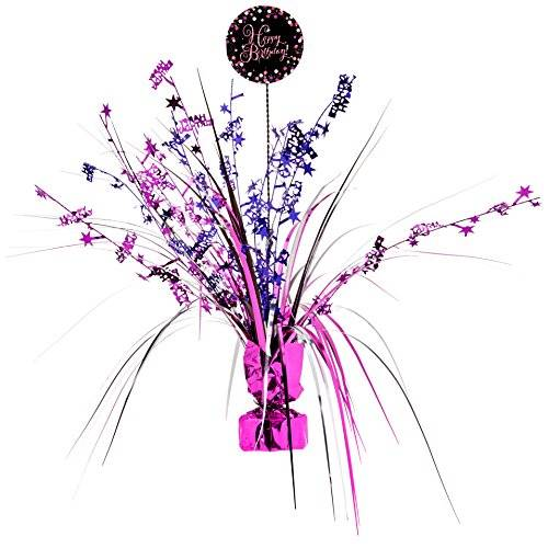 Amscan International – 9901187 33 cm celebración Centrepiece spray