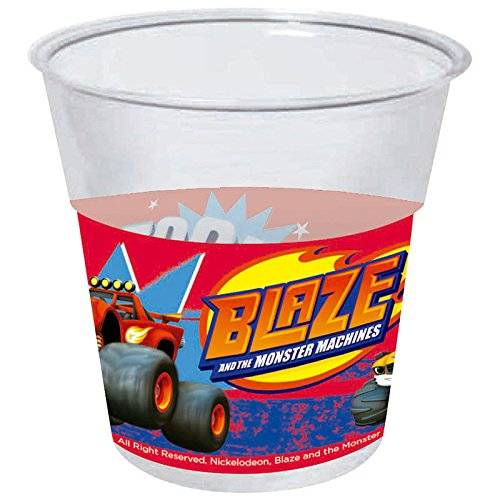 Monster Cable Blaze And The Monster Machine - 8 vasos desechables 20cl para fiesta (Gabbiano 27682)