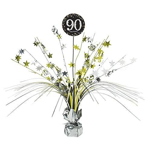 Amscan International – 9901725 45 cm oro celebración de 90º Centrepiece spray