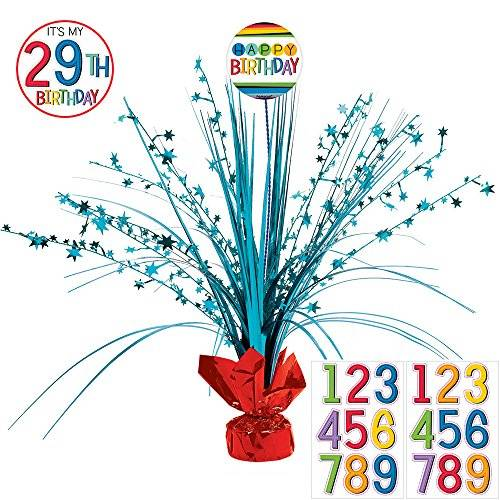 Amscan International – 111836 45 cm Rainbow personalizado Centrepiece spray