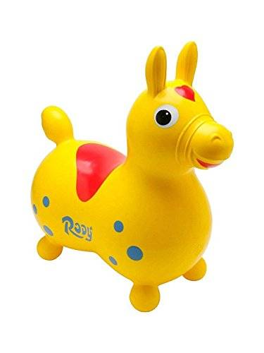 Gymnic - Caballo de juguete inflable Rody, color amarillo (2089090)