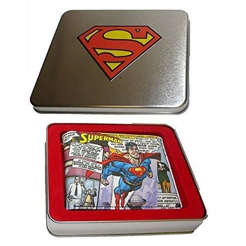 Superman Monedero de cómic en una caja de regalo de estaño