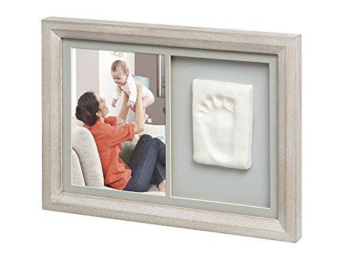 ART Baby Art Tiny Touch Wall Print Frame Stormy - Marco foto con huella, color gris