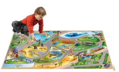 Playmat Collection Connect Alfombra Zoo multicolor de 100x 150cm, de Playmat Collection Connect