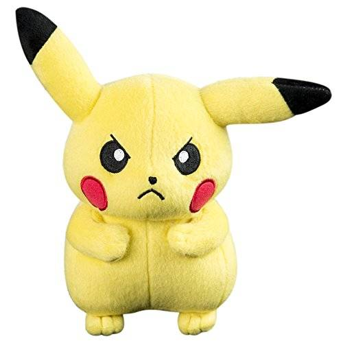 Pokémon Pokemon t18536d11pikaangry 8-Inch Angry Pikachu Battle Ready peluche