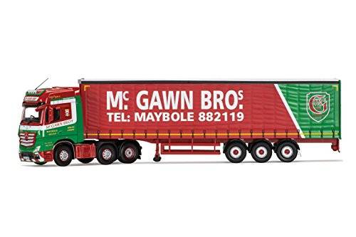 Corgi - Mercedes-Benz MP4, Curtainside Trailer, McGawn Transport (Hornby CC15812)
