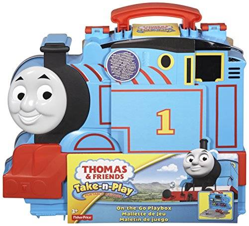 Thomas & Friends Thomas and Friends - Maletín y pista para locomotor Fisher-Price (Mattel CDN10)