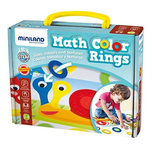 Miniland - Math Color Rings, juego educativo, multicolor (31796)