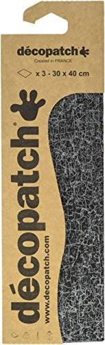 Decopatch – c297o Papel, 395 x 298 mm, color Schwarz Weiß Craquelé