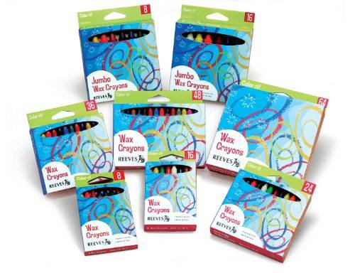 OfficeCentre Reeves Color It Jumbo Wax Crayons - Assorted (Pack of 8)