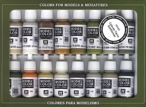Vallejo Model Color Set - Set de pintura acrílica (16 unidades), multicolor