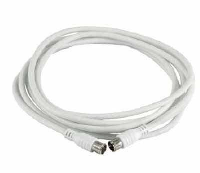 Kathrein ETG 15 1.5m F F Color blanco - Cable coaxial (F, F, 1,5 m, Male connector/Male connector, Color blanco)