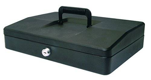 Desconocido HELIX 30CM SLOPING LID CASH BOX BLACK