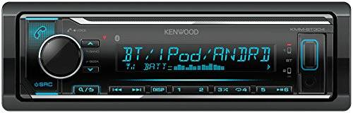 Kenwood Electronics KMM-BT304 Bluetooth Negro receptor multimedia para coche - Radio para coche (FM,LW,MW, 87,5 - 108 MHz, MOSFET, 1,5 líneas, LCD, Negro)