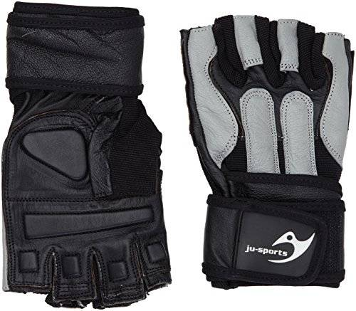 Ju-Sports Fitness Handschuhe Training Guard - Guantes para fitness, color negro/gris, talla S